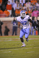 16 October 2010:  North Carolina safety Deunta Williams (27)..The North Carolina Tar Heels defeated the Virginia Cavaliers 44-10 at Scott Stadium in Charlottesville, VA.