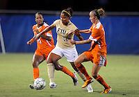 Florida International University women's soccer player Scarlett Montoya (10) plays against the University of Florida on August 21, 2011 at Miami, Florida. Florida won the game 2-0. .