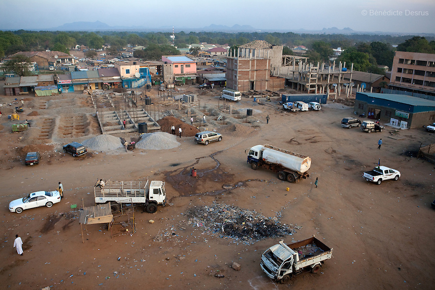 12 januay 2011 - Juba, South Sudan - Aerial view of Juba town. Ballots are counted following a weeklong independence referendum in Juba, the capital of Southern Sudan. Photo credit: Benedicte Desrus