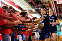 HARRISON, NJ - SEPTEMBER 29: Nahomi Kawasumi #9 of Sky Blue FC during a game between Orlando Pride and Sky Blue FC at Red Bull Arena on September 29, 2019 in Harrison, New Jersey.