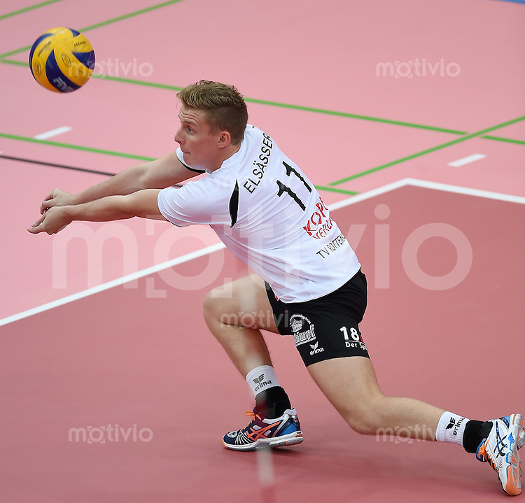 Volleyball 1. Bundesliga  Saison  2014/2015 Testspiel 10.09.2014 in Tuebingen TV Rottenburg  - SV Fellbach Johannes Elsaesser (TV Rottenburg)