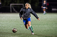 Boston, MA - Saturday September 30, 2017: Adriana Leon during a regular season National Women's Soccer League (NWSL) match between the Boston Breakers and Sky Blue FC at Jordan Field.
