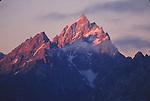 Grand Teton peak at sunrise
