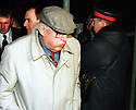 Ulster Democratic Party Leader Dr Ian Paisley faces the media cameras early Friday, April 10, 1998, he march into the media conference centre outside Castle Buildings, Stormont, Belfast, during late night peace talks on Northern Ireland. ( Photo/Paul McErlane)