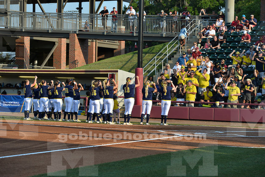 The University of Michigan softball team was defeated by Florida State University in the third game of the Super Regional held on the campus of Florida State University in Tallahassee, FL. May 24, 2014