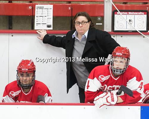 Katie Lachapelle (BU - Assistant Coach) - The Harvard University Crimson defeated the visiting Boston University Terriers 3-1 on Friday, November 22, 2013, at Bright-Landry Hockey Center in Cambridge, Massachusetts.