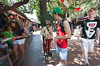 Photo from OxyEngage 2011, Olvera Street, downtown L.A.. Hosted by Occidental College's Office of Student Life, the program is for incoming students. August 25, 2011. (Photo by Marc Campos, Occidental College Photographer)