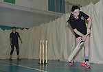 Members of the girls cricket team practicing batting in the nets ..Cowbridge Comprehensive School Girls Cricket Club with England Womans Captain Charlotte Edwards and Heather Knight - 16th April 2013 - Cricket Wales -  Cowbridge - Vale of Glamorgan..© www.sportingwales.com- PLEASE CREDIT IAN COOK