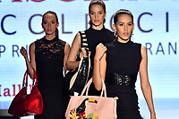 CALI - COLOMBIA - 21 - 09 – 2017: Modelos lucen diseño de la colección Fascinacion, de la marca Sharline. El Teatro Calima es el escenario para la pasarela del Cali ExpoShow 2017. / Models look design from the collection Fascinacion, Sharline brand. The Calima Theatre is the setting for the fashion catwalk  of the Cali ExpoShow 2017.Photo: Photo: VizzorImage / Luis Ramirez / Staff.