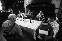 Europe/France/Limousin/Corrèze/Chaumeil : Auberge des Bruyères - Repas autour de l'accordéon [Autorisation : A15-A16-A17-A18-A19-A20] <br /> PHOTO D'ARCHIVES // ARCHIVAL IMAGES<br /> FRANCE  2000