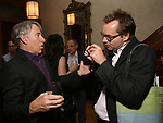 Stephen Schwartz and Michael Riedel attends the DGF Salon with Stephen Schwartz at the Uterberg Residence on May 1, 2017 in New York City.