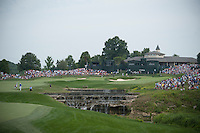 The 18th green at Valhalla during the opening round of the US PGA Championship at Valhalla (Photo: Anthony Powter) Picture: Anthony Powter / www.golffile.ie