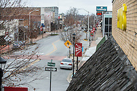 STAFF PHOTO ANTHONY REYES &bull; @NWATONYR<br /> Looking west on Emma Avenue Friday, Dec. 26, 2014 in Springdale. The Razorback Greenway will soon be finished through the downtown area which is hoped to bring more businesses and shoppers downtown.