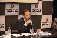 SÃO PAULO,SP, 07.04.2017 - DÓRIA-SP - O prefeito João Doria Jr. durante coletiva de imprensa para a apresentação da nova passarela do aeroporto de Congonhas, na sede da Prefeitura, em São Paulo (SP), na manhã desta sexta-feira (7). (Foto: Danilo Fernandes/Brazil Photo Press)