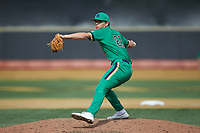 Notre Dame Fighting Irish relief pitcher Anthony Holubecki (21) in action against the Wake Forest Demon Deacons at David F. Couch Ballpark on March 10, 2019 in  Winston-Salem, North Carolina. The Demon Deacons defeated the Fighting Irish 7-4 in game one of a double-header.  (Brian Westerholt/Four Seam Images)