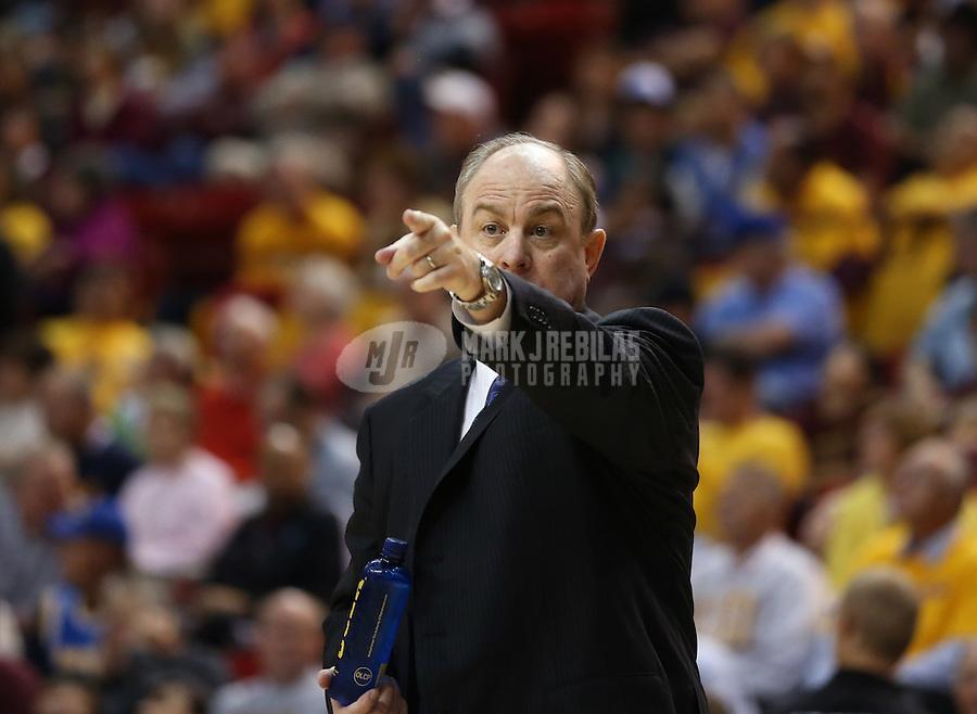 Jan. 26, 2013; Tempe, AZ, USA: UCLA Bruins head coach Ben Howland against the Arizona State Sun Devils at the Wells Fargo Arena. Mandatory Credit: Mark J. Rebilas-USA TODAY Sports