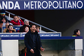 2nd December 2017, Wanda Metropolitano, Madrid, Spain; La Liga football, Atletico Madrid versus Real Sociedad; Diego Pablo Simeone Coach of Atletico de Madrid