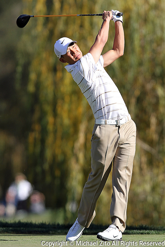 12/04/09 Thousand Oaks, CA:  Anthony Kim during the 2nd round of the Chevron World Challenge held at Sherwood Country Club to benefit the Tiger Woods Foundation.
