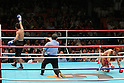 Daisuke Naito, Noriyuki Komatsu (JPN), JUNE 27, 2006 - Boxing : Daisuke Naito (L) of Japan celebrates after knocking down Noriyuki Komatsu of Japan in the sixth round during the OPBF and Japanese flyweight titles bout at Korakuen Hall in Tokyo, Japan. (Photo by Hiroaki Yamaguchi/AFLO)