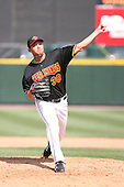 April 17th, 2008:  Pitcher Mariano Gomez (30) of the Rochester Red Wings, Class-AAA affiliate of the Minnesota Twins, delivers a pitch during a game at Frontier Field in Rochester, NY.  Photo by:  Mike Janes/Four Seam Images