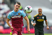 Declan Rice of West Ham United during the Premier League match between West Ham United and Manchester City at the London Stadium, London, England on 10 August 2019. Photo by David Horn.
