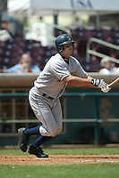 Joey Gomes of the Bakersfield Blaze bats during a 2004 season California League game against the Inland Empire 66ers in San Bernardino, California. (Larry Goren/Four Seam Images)