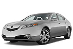 Low aggressive front three quarter view of a 2009 - 2014 Acura TL SH AWD Sedan.