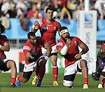 29/09/2015 - Tonga v Namibia - Sandy Park - Exeter - England - UK