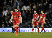 Blackburn Rovers' Craig Conway dejected as Fulham's Sone Aluko scores the opening goal <br /> <br /> Photographer /Ashley WesternCameraSport<br /> <br /> The EFL Sky Bet Championship - Fulham v Blackburn Rovers - Tuesday 14th March 2017 - Craven Cottage - London<br /> <br /> World Copyright &copy; 2017 CameraSport. All rights reserved. 43 Linden Ave. Countesthorpe. Leicester. England. LE8 5PG - Tel: +44 (0) 116 277 4147 - admin@camerasport.com - www.camerasport.com