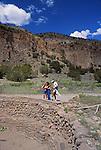 Visitors at Bandelier National Monument