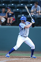 Ryan Donovan (9) of the Hofstra Pride bats during a game against the UCLA Bruins at Jackie Robinson Stadium on March 14, 2015 in Los Angeles, California. UCLA defeated Hofstra, 18-1. (Larry Goren/Four Seam Images)