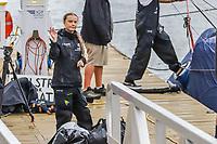 NOVA YORK, EUA, 28.08.2019 - GRETA-THUNBERG - A ativista climática sueca Greta Thunberg, 16 anos, fez uma jornada de 15 dias cruzando o Atlântico no Malizia II, um iate veleiro zero carbono chegou na Ilha de Manhattan em Nova York na tarde desta quarta-feira, 28. (Foto: Vanessa Carvalho/Brazil Photo Press)