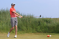Mark Power (Kilkenny) on the 3rd tee during Round 4 of the East of Ireland Amateur Open Championship 2018 at Co. Louth Golf Club, Baltray, Co. Louth on Monday 4th June 2018.<br /> Picture:  Thos Caffrey / Golffile<br /> <br /> All photo usage must carry mandatory copyright credit (&copy; Golffile | Thos Caffrey)