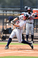 GCL Braves outfielder Joseph Daris (26) at bat during a game against the GCL Yankees 2 on June 23, 2014 at the Yankees Minor League Complex in Tampa, Florida.  GCL Yankees 2 defeated the GCL Braves 12-4.  (Mike Janes/Four Seam Images)