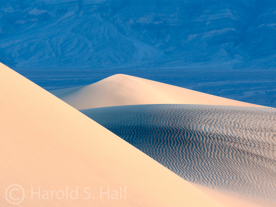 Sunrise in the Mesquite Sand Dunes of Death Valley California