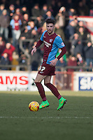 Alex Davey of Scunthorpe Utd<br />  - Scunthorpe United vs Swindon Town - Sky Bet League One Football at Glanford Park, Scunthorpe, Lincolnshire - 14/02/15 - MANDATORY CREDIT: Mark Hodsman/TGSPHOTO - Self billing applies where appropriate - contact@tgsphoto.co.uk - NO UNPAID USE