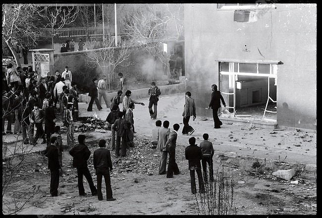 A house formerly occupied by SAVAK, burned by crowds over the weekend. Tehran, December 31, 1978