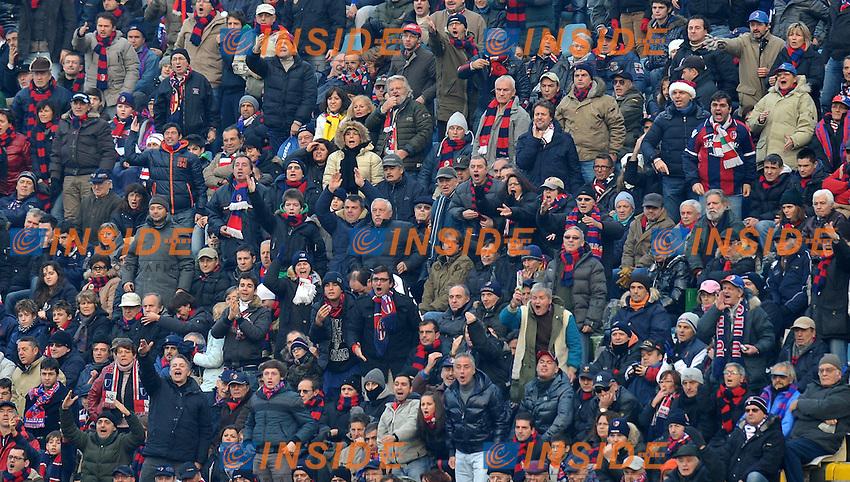 """Proteste sugli spalti del bologna (Bologna).Bologna 11/12/2011 Stadio """"Renato Dall Ara"""".Serie A 2011/2012.Football Calcio Bologna Vs Milan.Foto Insidefoto Alessandro Sabattini."""