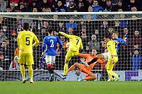 Gerard Moreno of Villarreal CF goes close towards the end of the match during Rangers vs Villarreal CF, UEFA Europa League Football at Ibrox Stadium on 29th November 2018