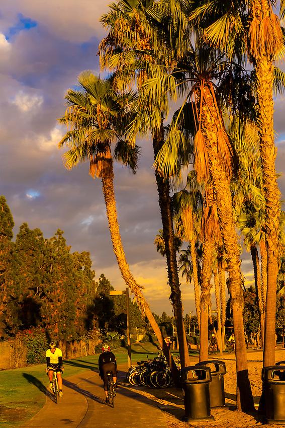 Bikers, Tidelands Park, Coronado Island (San Diego), California USA.