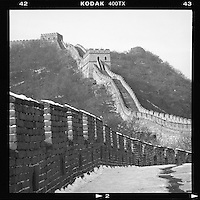 A snow-covered Great Wall is seen in Mutianyu on the outskirts of Beijing, China, December, 2012.