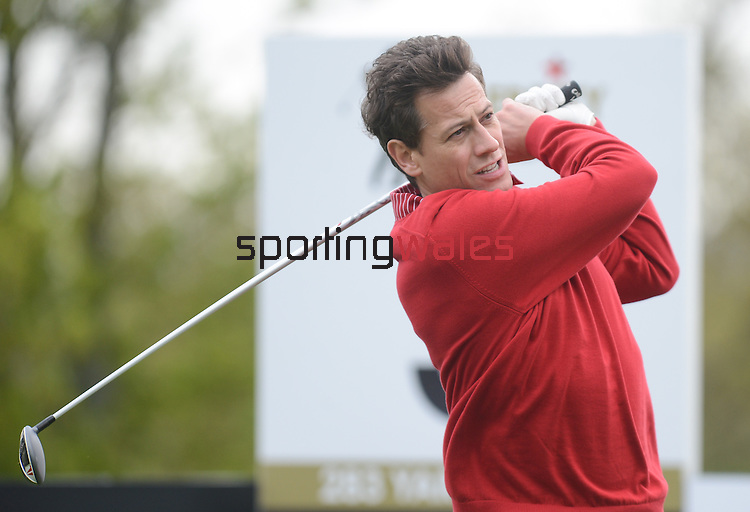 Wale's Ioan Gruffudd Hits a tee shot off the 4th ..Celebrity Cup at Golf Live  - Day 2 - Celtic Manor Resort - Saturday 11th  May  2013 - Newport ..© www.sportingwales.com- PLEASE CREDIT IAN COOK