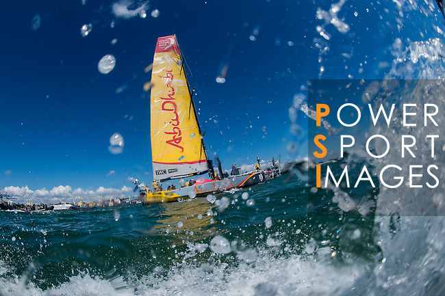 Teams in action during The New Zealand Herald In-Port Race Auckland as part of the Volvo Ocean Race 2014-2015 Leg 5 Auckland - Itajai on 14 March 2015 in Auckland, New Zealand. Photo by Victor Fraile / Power Sport Images