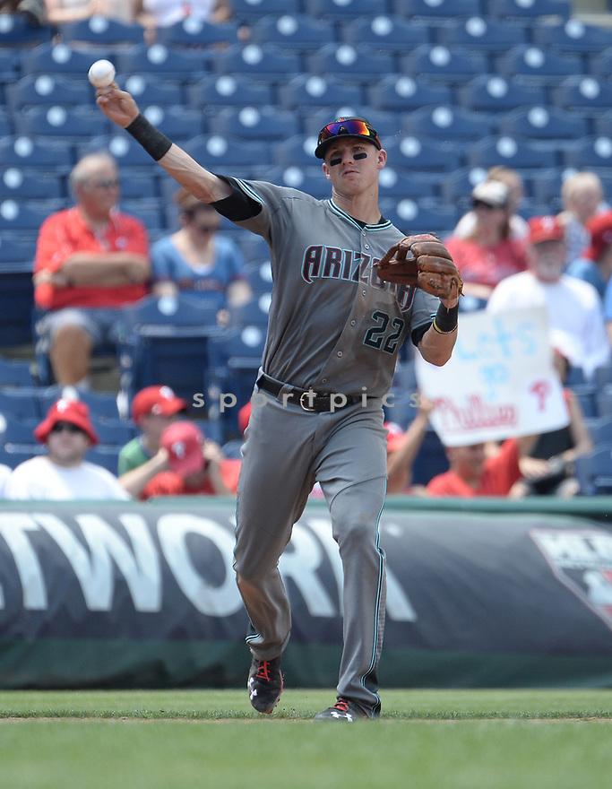 Arizona Diamondbacks Jake Lamb (22) during a game against the Philadelphia Phillies on June 20, 2016 at Citizens Bank Park in Philadelphia, PA. The Diamondbacks beat the Phillies 3-1.
