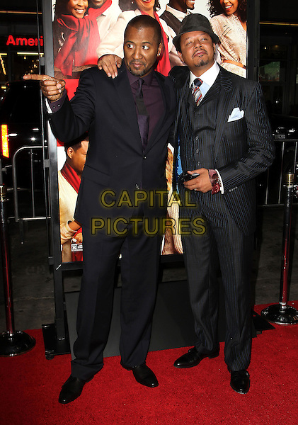05 November 2013 - Hollywood, California - Malcolm D. Lee, Terrence Howard at &quot;The Best Man Holiday&quot; Los Angeles Premiere held at TCL Chinese Theatre on November 5th, 2013<br /> CAP/ADM/KB<br /> &copy;Kevan Brooks/AdMedia/Capital Pictures