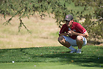 April 14, 2015; Ventura, CA, USA; Loyola Marymount Lions golfer Connor Campbell during the WCC Golf Championships at Saticoy Country Club.