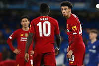 3rd March 2020; Stamford Bridge, London, England; English FA Cup Football, Chelsea versus Liverpool; Curtis Jones of Liverpool speaks with Sadio Mane