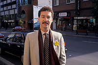 Montreal (Qc) CANADA,1989  File Photo -<br /> <br /> Francois Beaulne, NDP Candidate<br /> <br /> <br /> <br /> photo (c) Pierre Roussel -  Images Distribution