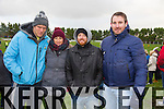 supporters Brendan Culhane, Dee Hayes, Nick Lynch, Nelie Stac  pictured during half time at the Bernard O'Callaghan Memorial Senior Football Championship final last Saturday Beale V Listowel Emmets
