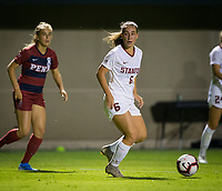 STANFORD, CA - August 30, 2019: Carly Malatskey at Maloney Field at Laird Q. Cagan Stadium. The Cardinal defeated the University of Pennsylvania Quakers 5-1.